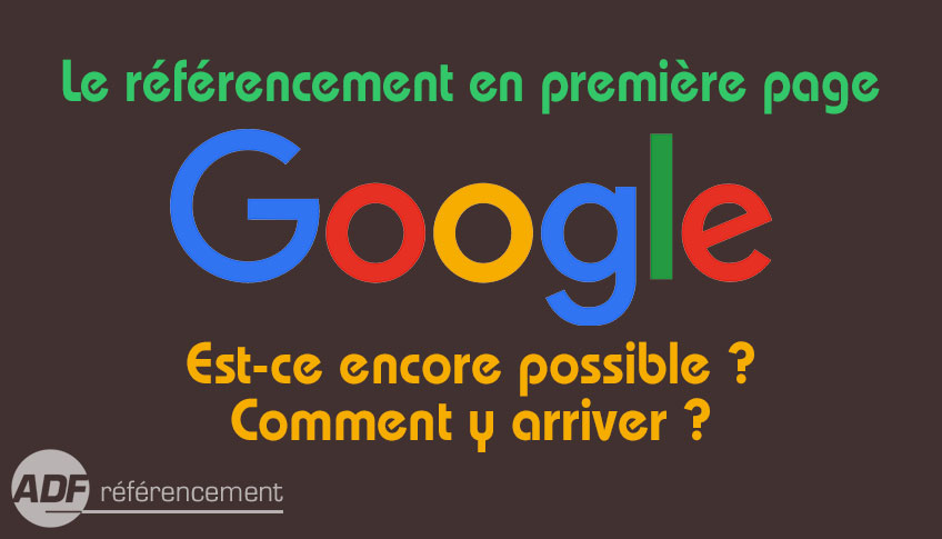 referencement premiere page google